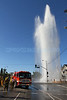 LAFD_7600DESOTO_HYDRANT : LAFD 105'S & 72'S RESPONDED TO A TRAFFIC COLLISION ON DE SOTO AND HART ST, IN CANOGA PARK TODAY (APRIL 27TH, 2011)... LAFD WAS UNABLE TO SHUT DOWN THE WATER FROM A SHREDDED  HYDRANT AND DWP WAS CALLED.      PHOTOS BY JUAN GUERRA.
