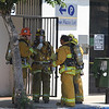 LAFD_WINNETKA HAZMAT : RESEDA - Five people apparently became ill by inhaling fumes from cleaning solvents today at a Los Angeles Department of Water and Power payment center in the Reseda area, authorities said.   A hazardous-materials team and paramedics were sent to 7299 Winnetka Ave. about 11:35 a.m., said Erik Scott of the Los Angeles Fire Department.     The people were in the lobby of the building, and complained of feeling ill. They were transported for hospital examination, according to Scott, who said the fumes apparently emanated from a combination of cleaning solvents.  Photos by Juan Guerra